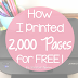 How I Printed 2000 Copies for Free
