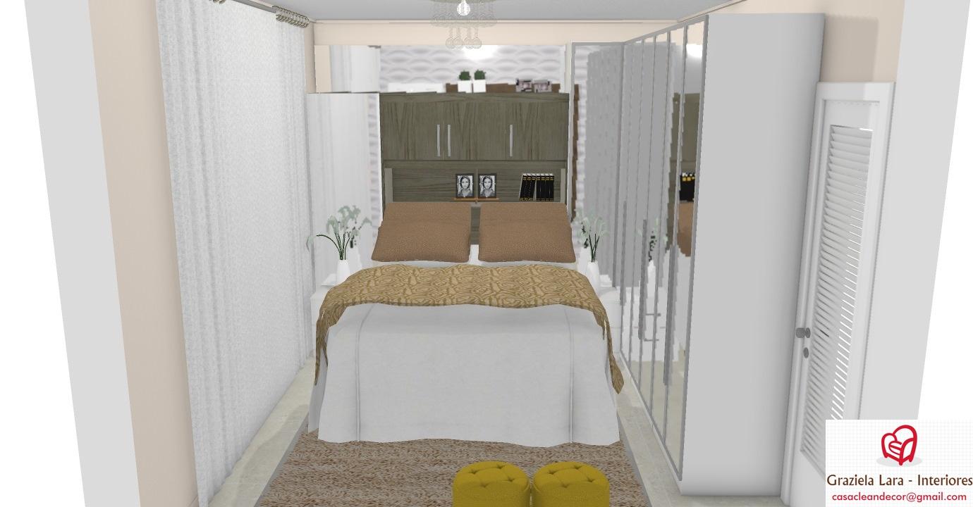 Construindo Minha Casa Clean Quarto De Casal Pequeno Com Arm Rio  ~ Azulejo Para Quarto De Casal E Armario Espelhado Quarto
