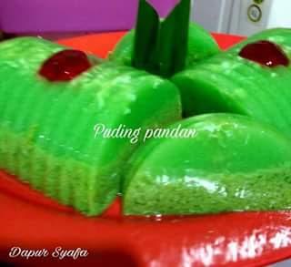 resep pudding pandan lumut