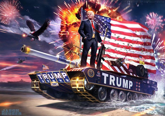 TRUMP - Never Come Down Wallpaper Engine