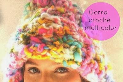 Gorro de Crochet Multicolor