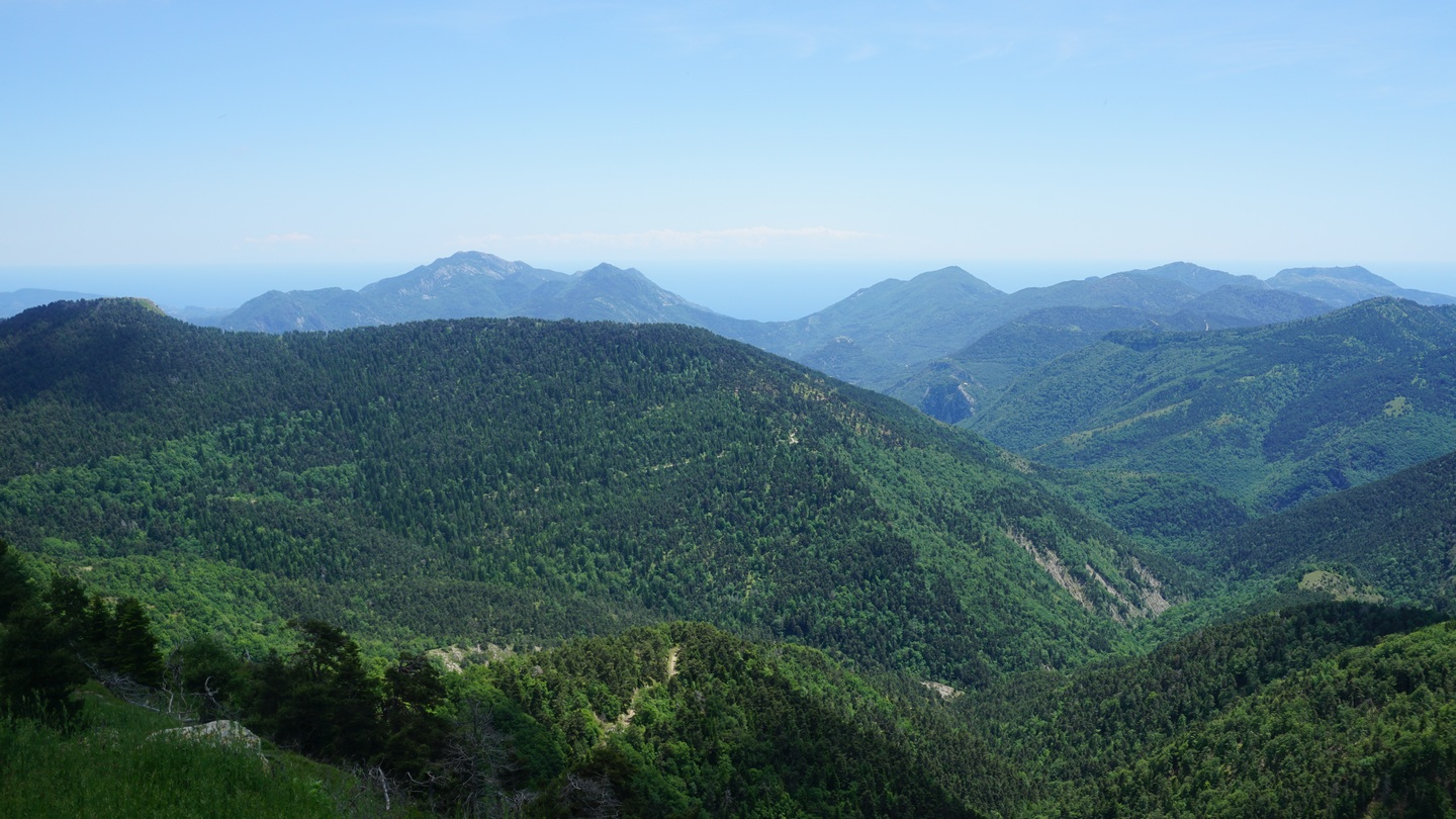View south from Cime de Peira-Cava