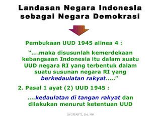 Apa Saja Landasan Hukum Demokrasi Pancasila Di Indonesia