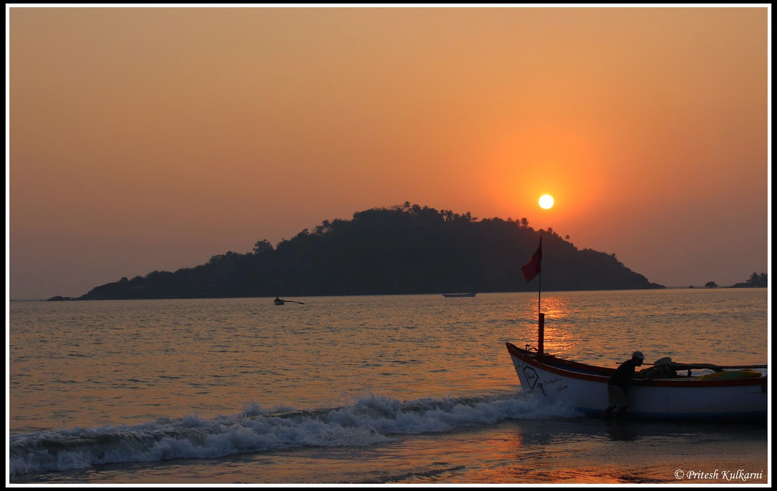 Sunset from Palolem Beach