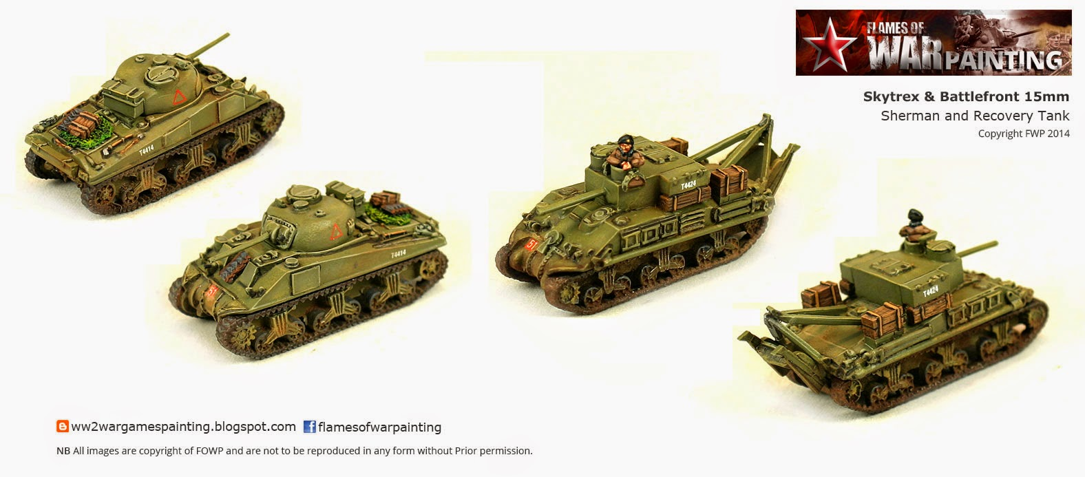 SkyTrex and BattleFront 15mm Sherman and Sherman Recovery tank