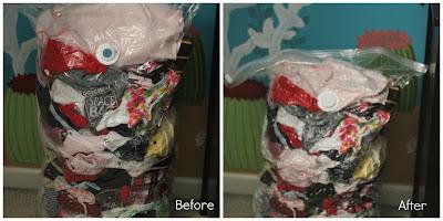 Ziplock Clothing Bag, Ziplock Space Bag, Space Bag, kids clothing storage, baby clothing storage