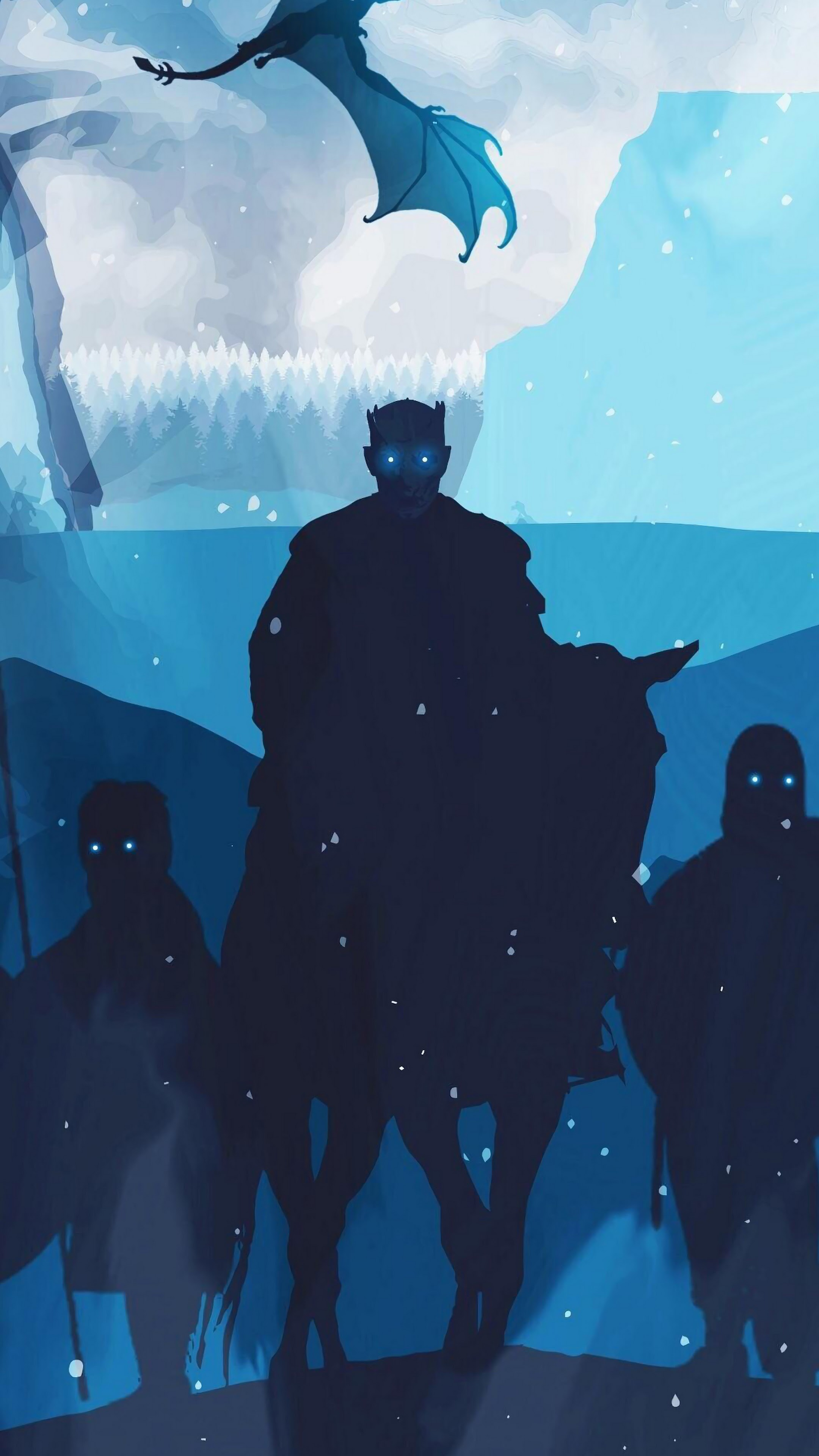 Night King White Walkers Army Minimalist Game Of Thrones 4k