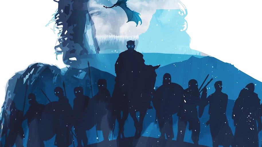 Night king white walkers army minimalist game of thrones 4k 50 wallpaper - Game of thrones 21 9 ...