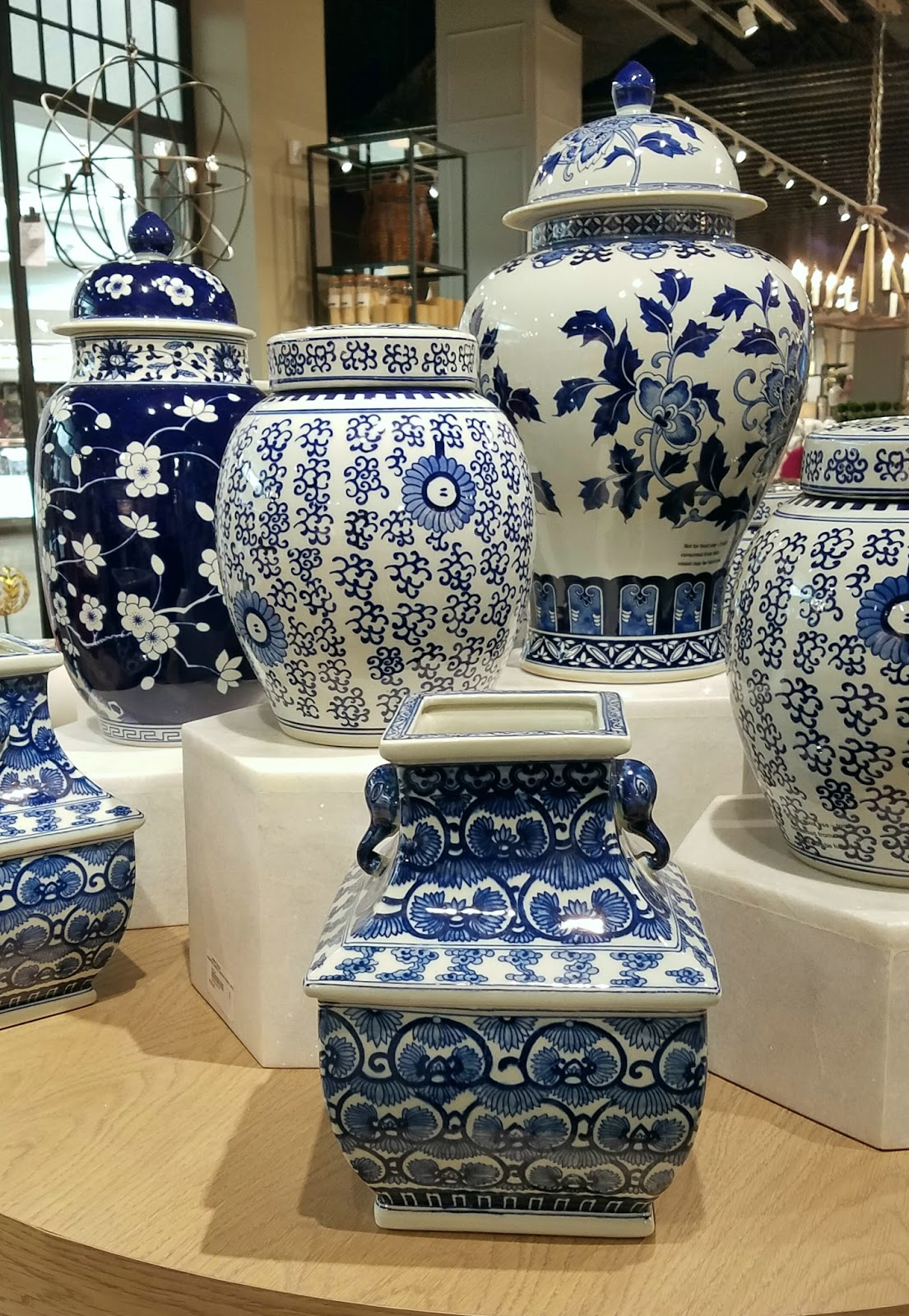a design snack by linda pakravan ballard designs in natick ballard s beloved classics like blue and white porcelain and pagoda lanterns are on display