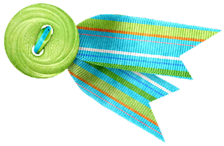Borders, Buttons and Laces of the Summer Splash Clip Art.