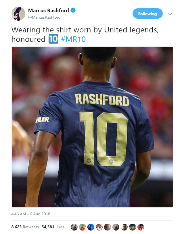 Marcus Rashford is now the owner of one of the most coveted shirts in English football