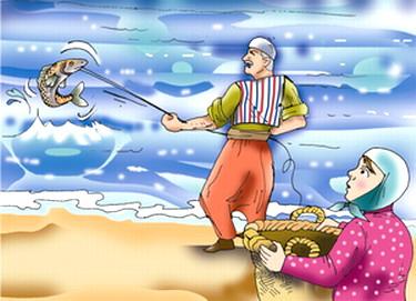 حكاية  الصياد وبناته مع الأمير