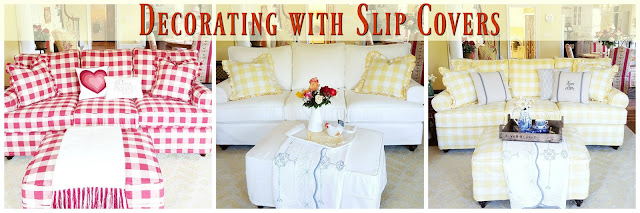 Using different slip covers for decorating