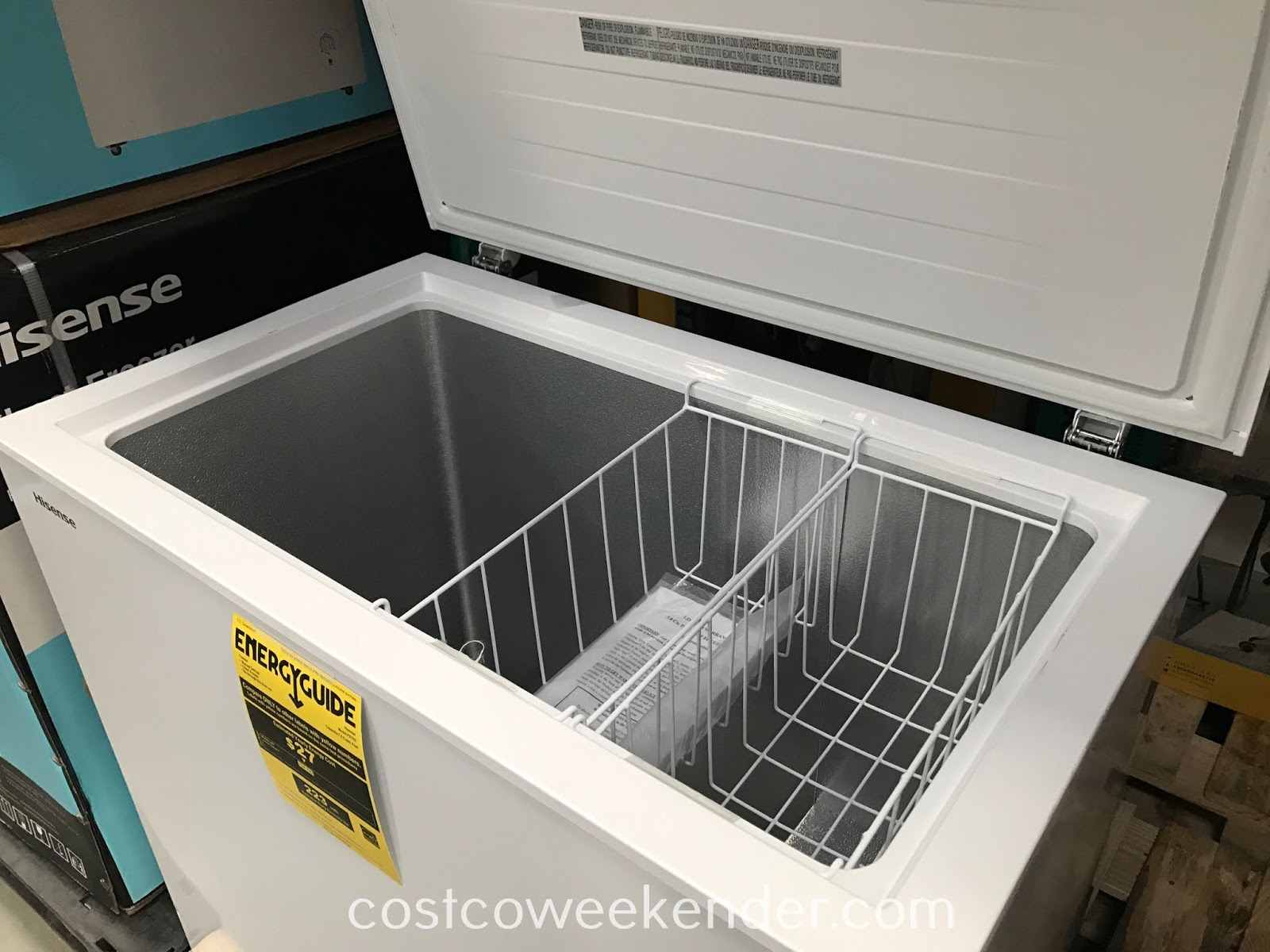 Costco 1214150 - Preserve additional food or have more ice on hand with the Hisense FE703 Chest Freezer