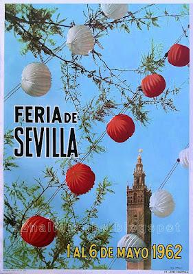 Sevilla - Cartel de las Fiestas de Primavera de 1962  A. Palau