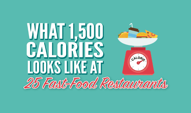 What 1,500 Calories Looks Like at 25 Fast Food Restaurants