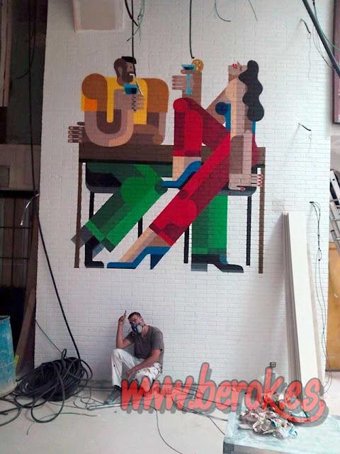 Graffitis decorativos restaurante