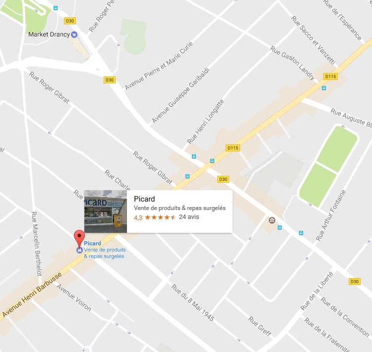 Ville de drancy le magasin picard drancy for Garage drancy avenue henri barbusse