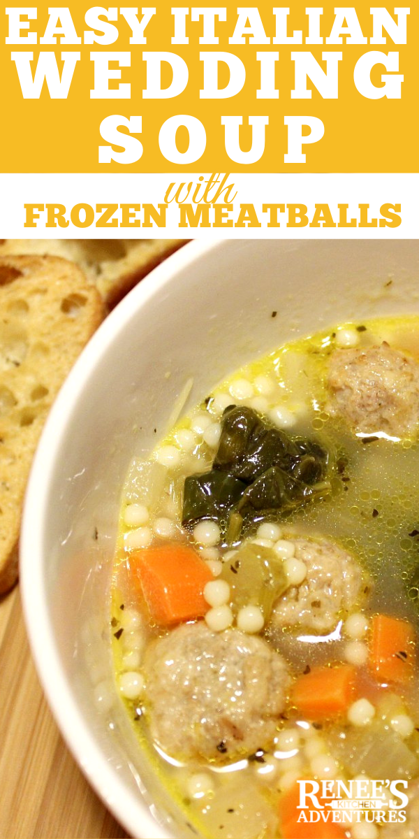 Easy Italian Wedding Soup by Renee's Kitchen Adventures pin