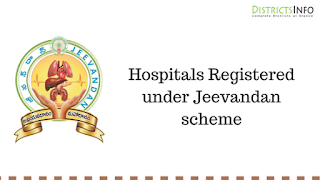 Hospitals Registered under Jeevandan scheme
