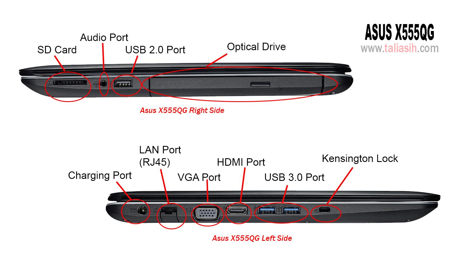 Spesifikasi ASUS X555QG