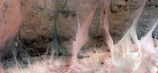 banshees,abstract landscapes of deserts of Africa ,Abstract Naturalism,abstract photography deserts of Africa from the air,abstract surrealism,mirage in desert,,abstract expressionism, rose, white,