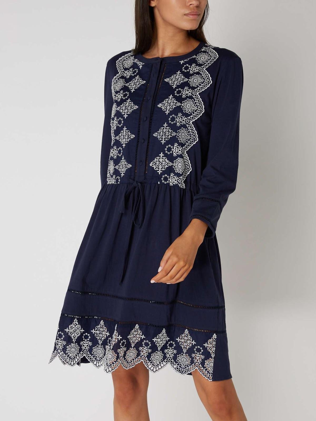 Maison De Nimes Embroidered Shirt Dress