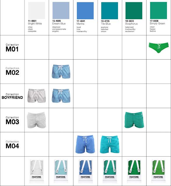 pantone beachwear colors