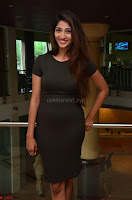 Priya Vadlamani super cute in tight brown dress at Stone Media Films production No 1 movie announcement 052.jpg