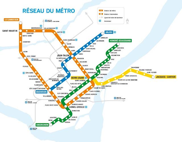 Metrô em Montreal