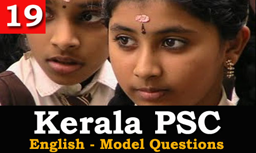 Kerala PSC - Model Questions English - 19