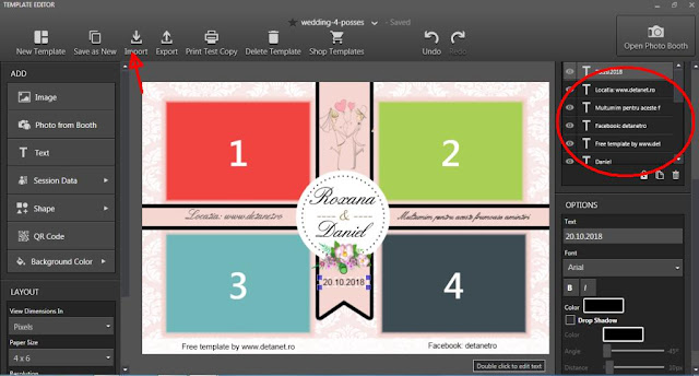 wedding photobooth template free
