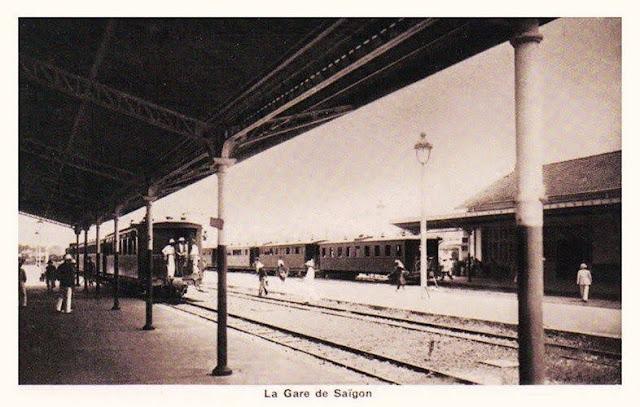 Nhà ga cũ của Sài Gòn thời Pháp thuộc, nằm ở vị trí công viên 23/9 ngày nay.