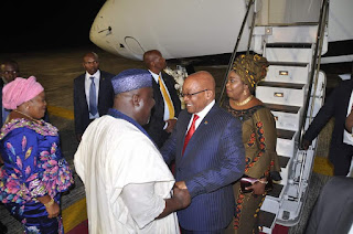 President Of South Africa, Jacob Zuma, Arrives Imo For A 2-Day Visit (Photos)