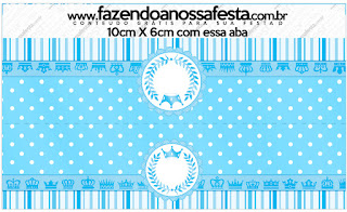 Corona Celeste: Etiquetas para Candy Bar de Quinceañera para Imprimir Gratis