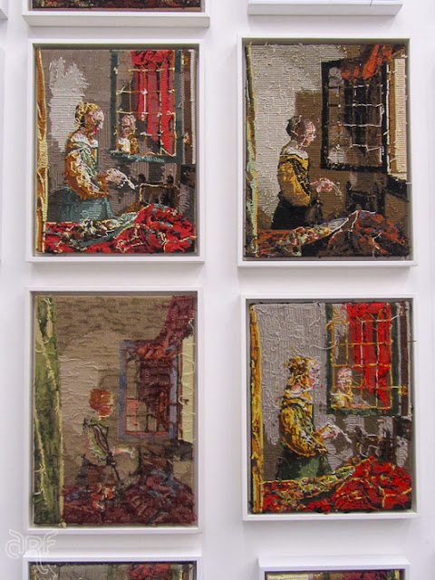 four versions of Vermeer's Letter reading Girl