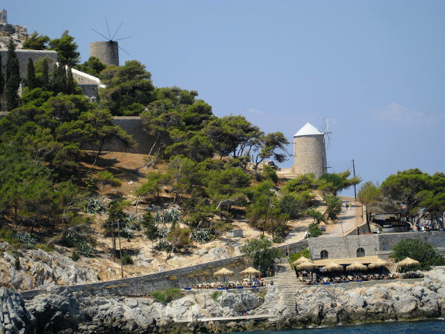 Windmills on Hydra, Greece