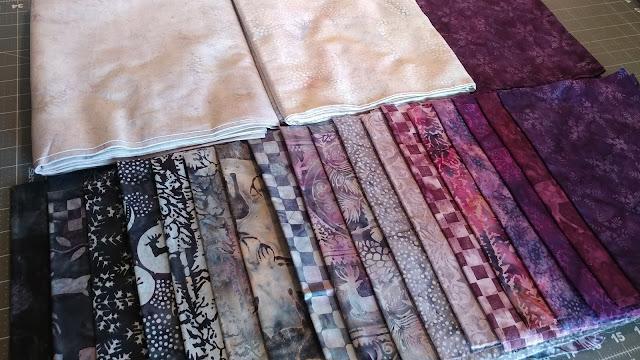 Snow Berry fabrics by Island Batik