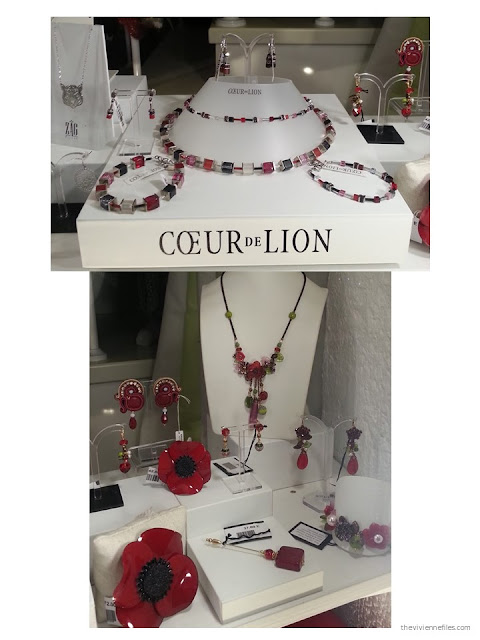 red and black jewelry in the shop windows of Paris