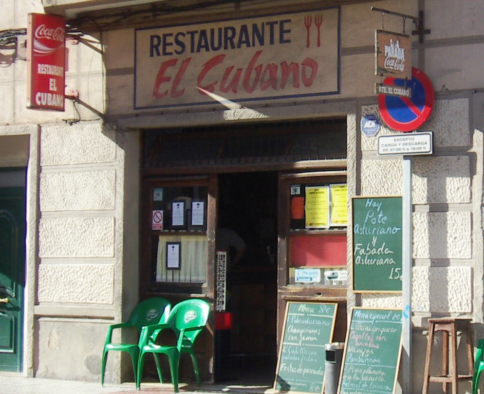 Restaurante El Cubano, exterior