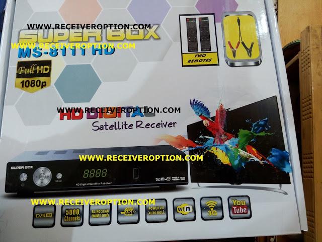 SUPER BOX MS-8111 HD RECEIVER POWERVU KEY NEW SOFTWARE
