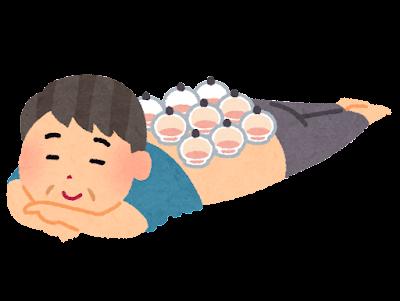 カッピング・吸い玉のイラスト(男性)