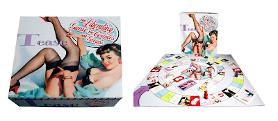Tease board game, drinking game, strip game