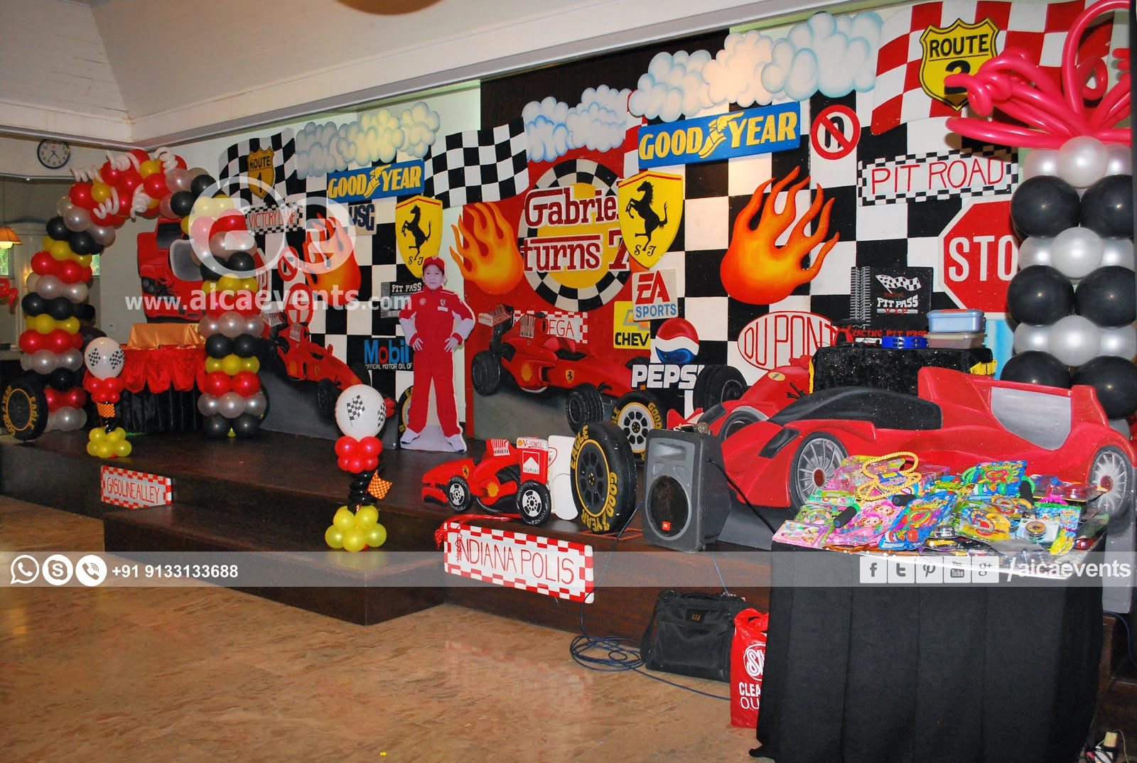 These Are Few Pics Of Cars Themed Birthday Party
