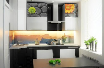 3D kitchen backsplash design