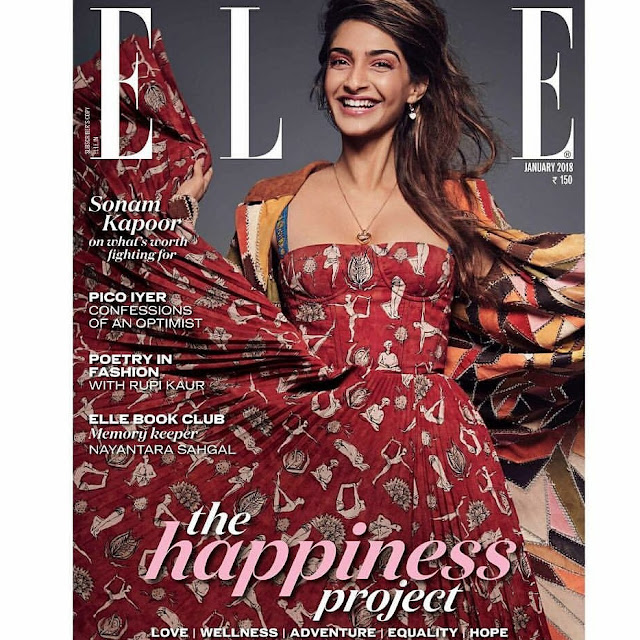 Sonam Kapoor on Elle India January 2018 Issue