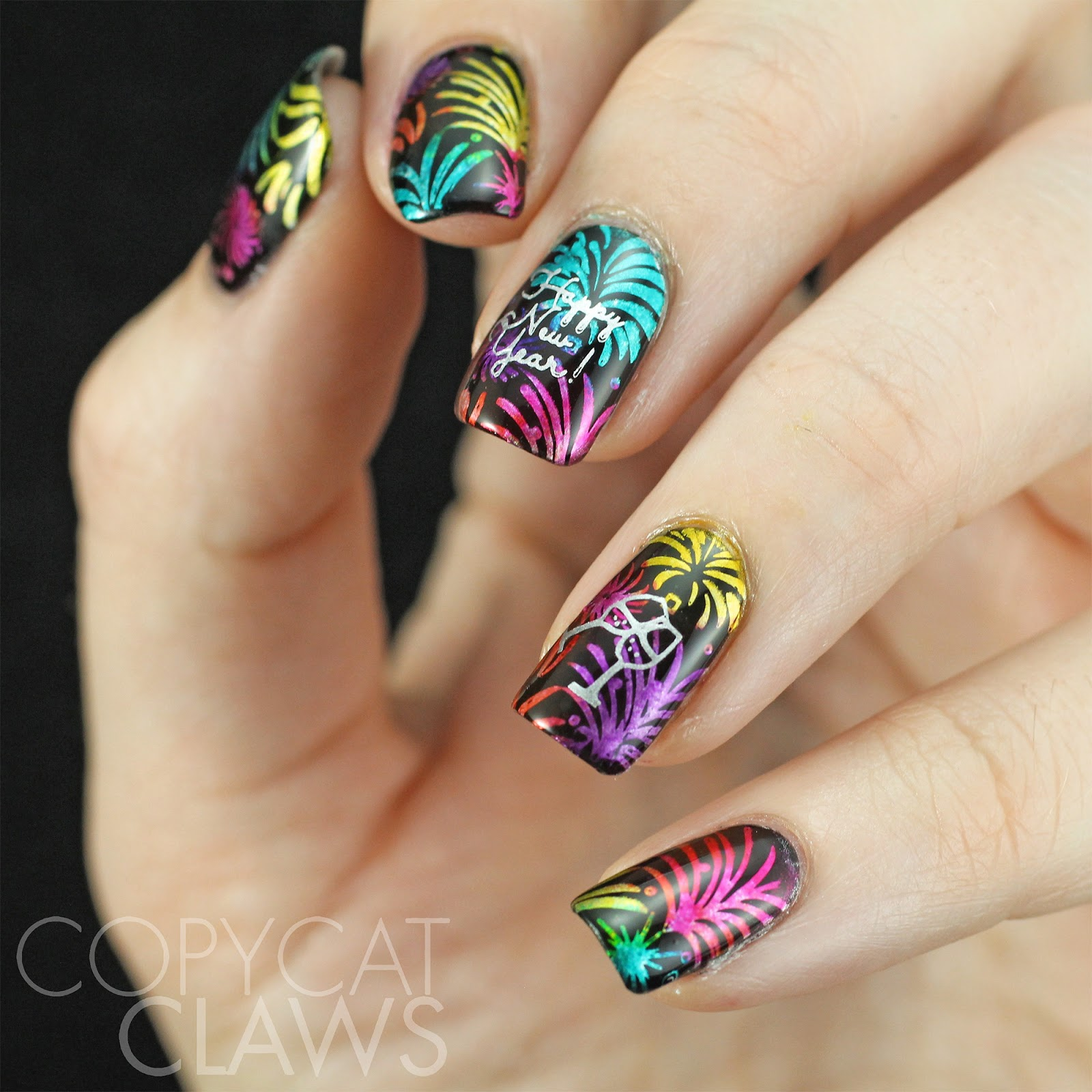 Copycat Claws: 40 Great Nail Art Ideas - New Year