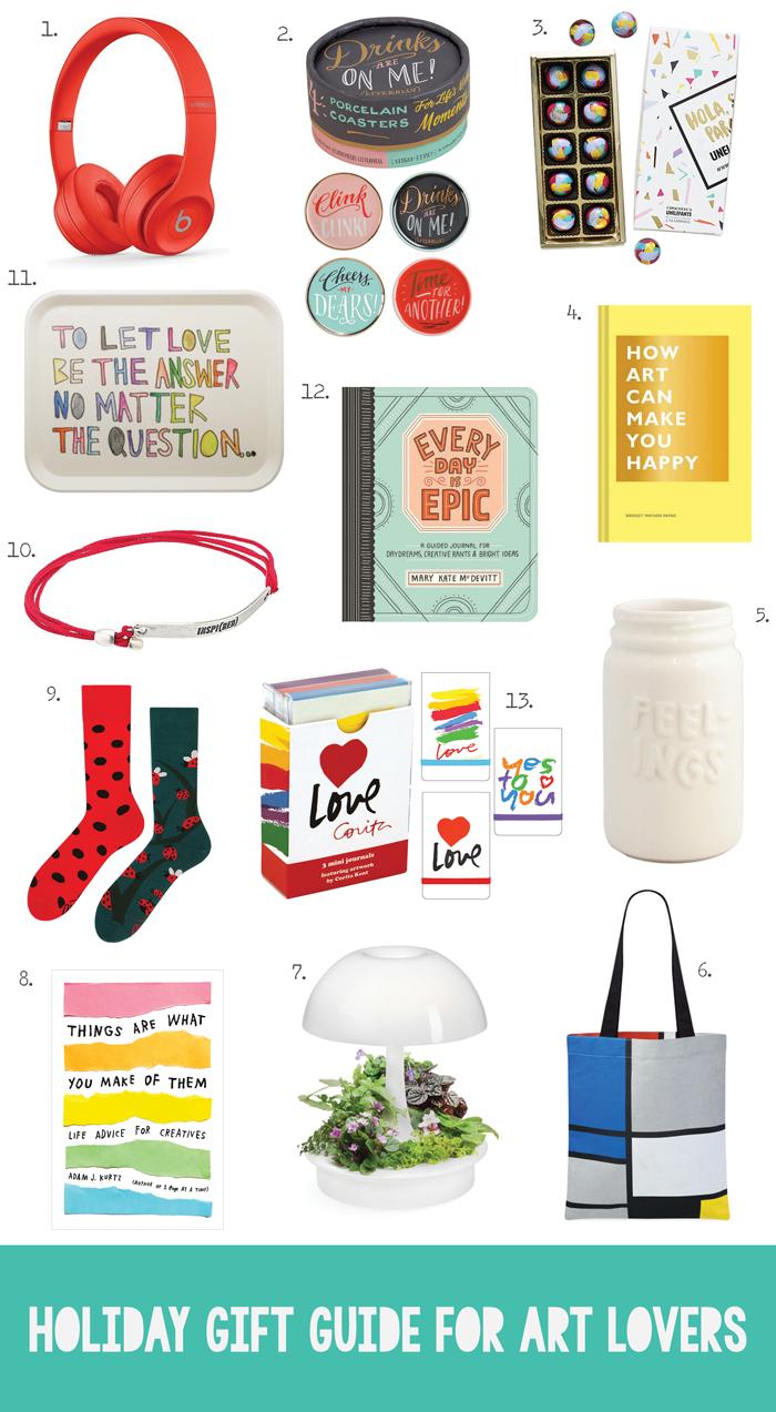 Christmas shopping guide, artists, chocolate, books, journals, accessories, electronics, home decor, MOMA, Adam J.K., beats