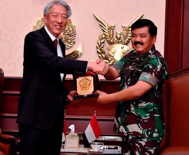 Panglima TNI Terima Kunjungan Kehormatan Wakil Perdana Menteri Singapura