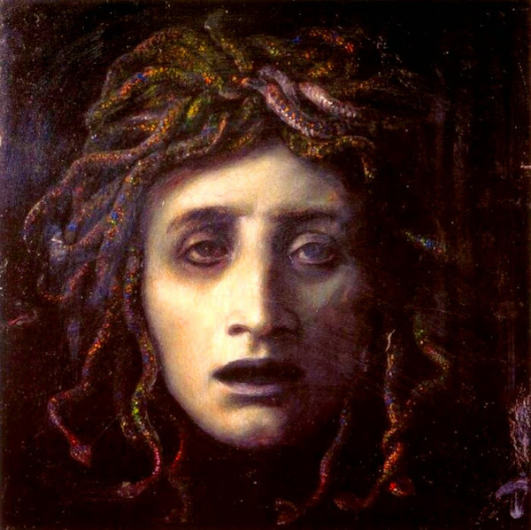 Medusa, Arnold Böcklin, Macabre Art, Macabre Paintings, Horror Paintings, Freak Art, Freak Paintings, Horror Picture, Terror Pictures